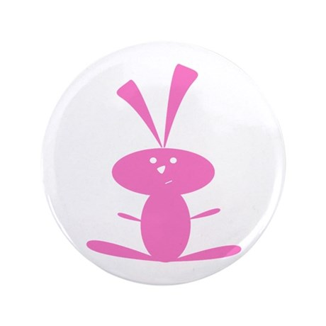 "PINK BUNNY 3.5"" Button (100 pack)"