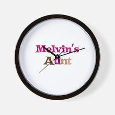 Melvin's Aunt Wall Clock