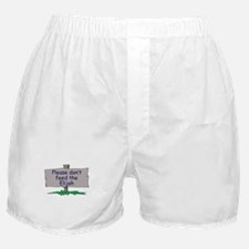 Please don't feed the Elijah Boxer Shorts