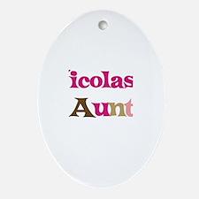 Nicolas's Aunt Oval Ornament