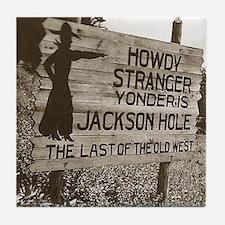 Vintage Jackson Hole Tile Coaster