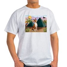 Basenji at the Pyramids T-Shirt