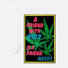 Friend With Weed Greeting Cards (Pk of 10)