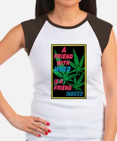 Friend With Weed Women's Cap Sleeve T-Shirt