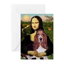Mona's Basset Hound Greeting Cards (Pk of 10)