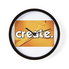 Create - Scissors - Crafts Wall Clock