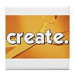Create - Scissors - Crafts Tile Coaster