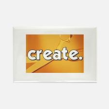 Create - Scissors - Crafts Rectangle Magnet
