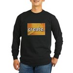 Create - Scissors - Crafts Long Sleeve Dark T-Shir