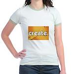 Create - Scissors - Crafts Jr. Ringer T-Shirt