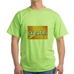 Create - Scissors - Crafts Green T-Shirt