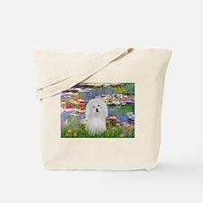 Lilies & Coton de Tulear Tote Bag