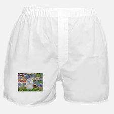 Lilies & Coton de Tulear Boxer Shorts