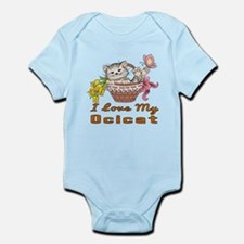 I Love My Ocicat Designs Infant Bodysuit