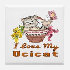I Love My Ocicat Designs Tile Coaster