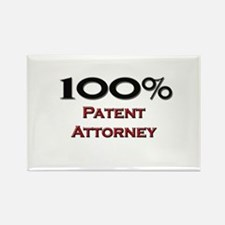 100 Percent Patent Attorney Rectangle Magnet
