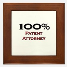100 Percent Patent Attorney Framed Tile