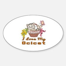 I Love My Ocicat Designs Sticker (Oval)