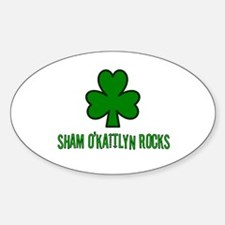 O' kaitlyn rocks Oval Decal