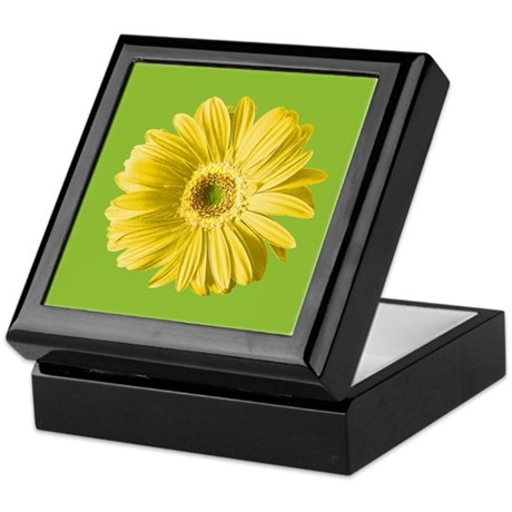 Pop Art Yellow Daisy Keepsake Box