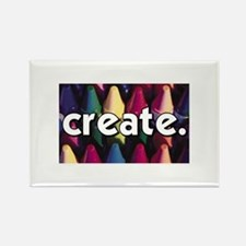 Create - Crayons - Crafts Rectangle Magnet