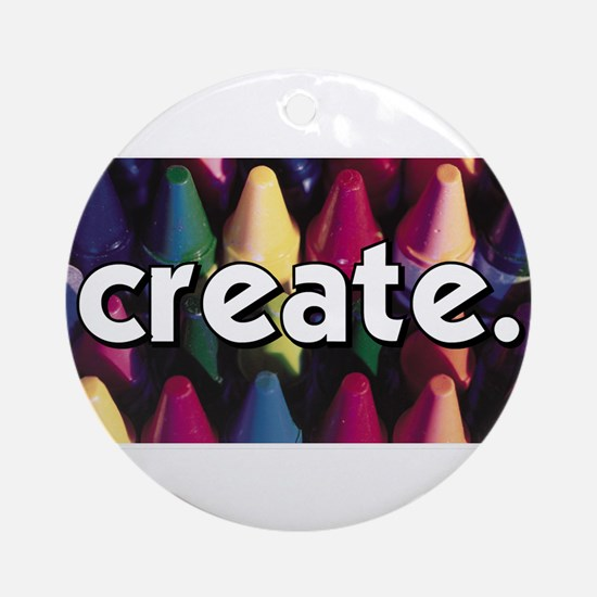 Create - Crayons - Crafts Ornament (Round)