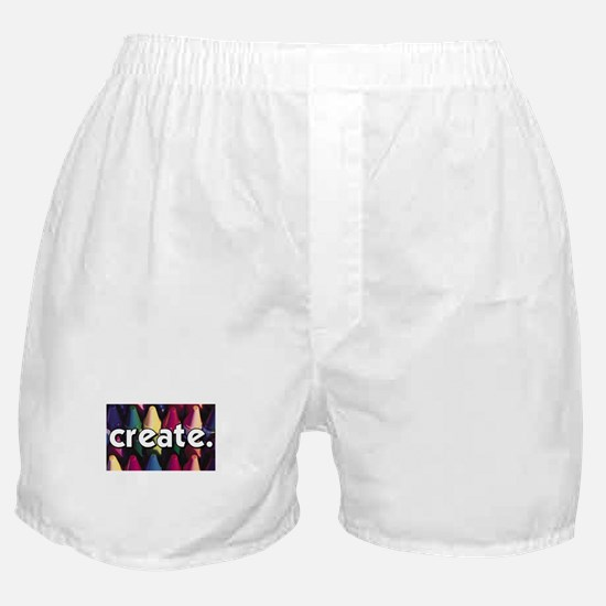 Create - Crayons - Crafts Boxer Shorts