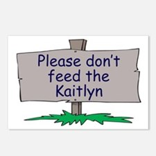 Please don't feed the Kaitlyn Postcards (Package o