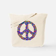 Star Peace Symbol Tote Bag