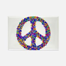 Star Peace Symbol Rectangle Magnet