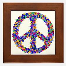 Star Peace Symbol Framed Tile