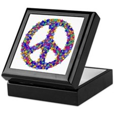 Star Peace Symbol Keepsake Box