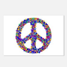 Star Peace Symbol Postcards (Package of 8)