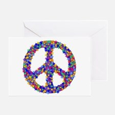 Star Peace Symbol Greeting Card