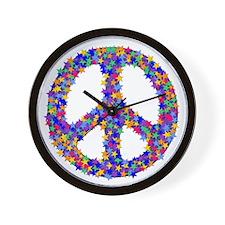 Star Peace Symbol Wall Clock