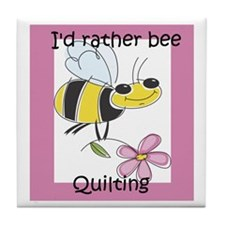 I'd Rather Bee Quilting Tile Coaster
