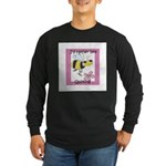I'd Rather Bee Quilting Long Sleeve Dark T-Shirt