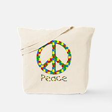 Autism Peace Symbol Tote Bag