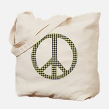 Smiley Face Peace Tote Bag