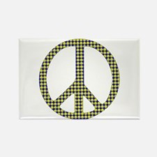 Smiley Face Peace Rectangle Magnet