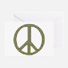 Smiley Face Peace Greeting Card