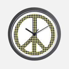 Smiley Face Peace Wall Clock