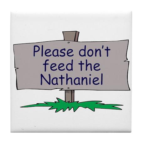 Please don't feed the Nathani Tile Coaster