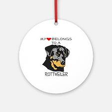 My Heart Rottweiler Keepsake (Round)