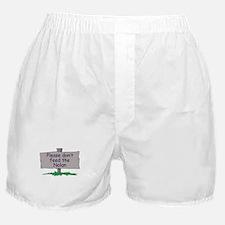 Please don't feed the Nolan Boxer Shorts