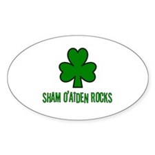 O' aiden rocks Oval Decal