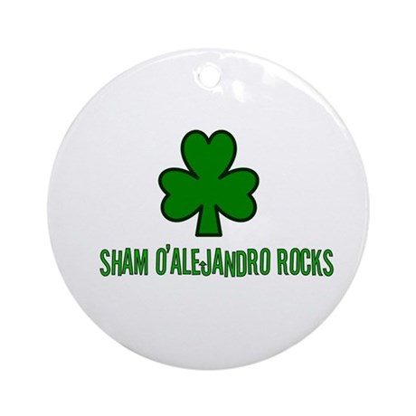 O' alejandro rocks Ornament (Round)