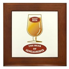 Genealogists Beer Framed Tile