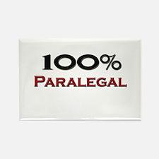 100 Percent Paralegal Rectangle Magnet