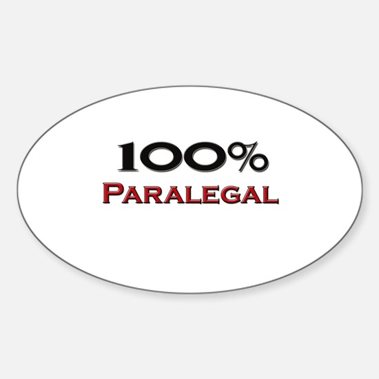 100 Percent Paralegal Oval Decal
